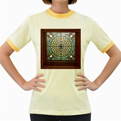 Stained Glass Window Library Of Congress Women s Fitted Ringer T Shirts