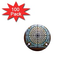 Stained Glass Window Library Of Congress 1  Mini Magnets (100 Pack)
