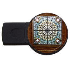 Stained Glass Window Library Of Congress Usb Flash Drive Round (2 Gb)