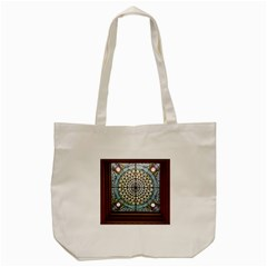 Stained Glass Window Library Of Congress Tote Bag (cream)