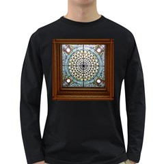 Stained Glass Window Library Of Congress Long Sleeve Dark T Shirts
