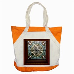 Stained Glass Window Library Of Congress Accent Tote Bag