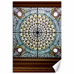 Stained Glass Window Library Of Congress Canvas 12  X 18
