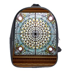 Stained Glass Window Library Of Congress School Bag (large)