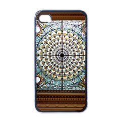 Stained Glass Window Library Of Congress Apple Iphone 4 Case (black)