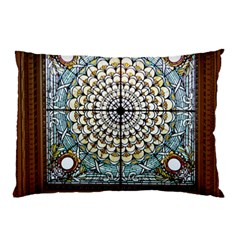 Stained Glass Window Library Of Congress Pillow Case (two Sides)