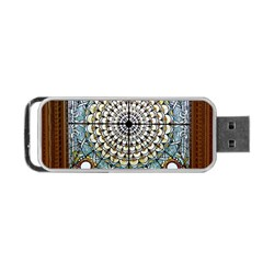 Stained Glass Window Library Of Congress Portable Usb Flash (one Side)