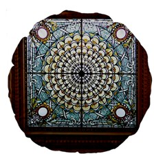 Stained Glass Window Library Of Congress Large 18  Premium Round Cushions