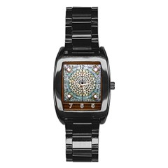 Stained Glass Window Library Of Congress Stainless Steel Barrel Watch