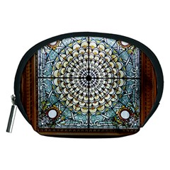 Stained Glass Window Library Of Congress Accessory Pouches (medium)