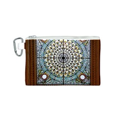 Stained Glass Window Library Of Congress Canvas Cosmetic Bag (s)