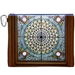 Stained Glass Window Library Of Congress Canvas Cosmetic Bag (xxxl)