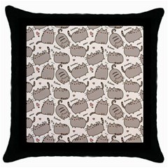 Pusheen Wallpaper Computer Everyday Cute Pusheen Throw Pillow Case (black)