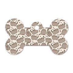 Pusheen Wallpaper Computer Everyday Cute Pusheen Dog Tag Bone (two Sides)