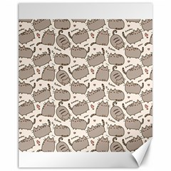 Pusheen Wallpaper Computer Everyday Cute Pusheen Canvas 11  X 14