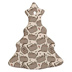 Pusheen Wallpaper Computer Everyday Cute Pusheen Christmas Tree Ornament (two Sides)