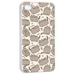 Pusheen Wallpaper Computer Everyday Cute Pusheen Apple Iphone 4/4s Seamless Case (white)
