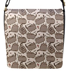 Pusheen Wallpaper Computer Everyday Cute Pusheen Flap Messenger Bag (s)