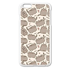 Pusheen Wallpaper Computer Everyday Cute Pusheen Apple Iphone 6 Plus/6s Plus Enamel White Case