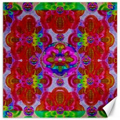 Fantasy   Florals  Pearls In Abstract Rainbows Canvas 20  X 20