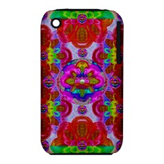 Fantasy   Florals  Pearls In Abstract Rainbows Iphone 3s/3gs