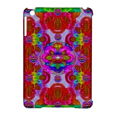 Fantasy   Florals  Pearls In Abstract Rainbows Apple Ipad Mini Hardshell Case (compatible With Smart Cover)