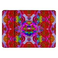 Fantasy   Florals  Pearls In Abstract Rainbows Samsung Galaxy Tab 8 9  P7300 Flip Case