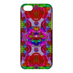 Fantasy   Florals  Pearls In Abstract Rainbows Apple Iphone 5c Hardshell Case