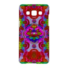 Fantasy   Florals  Pearls In Abstract Rainbows Samsung Galaxy A5 Hardshell Case