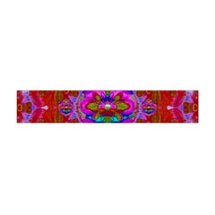 Fantasy   Florals  Pearls In Abstract Rainbows Flano Scarf (mini)