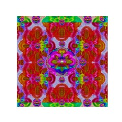 Fantasy   Florals  Pearls In Abstract Rainbows Small Satin Scarf (square)