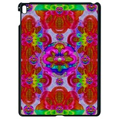 Fantasy   Florals  Pearls In Abstract Rainbows Apple Ipad Pro 9 7   Black Seamless Case