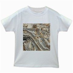 Background Structure Abstract Grain Marble Texture Kids White T Shirts