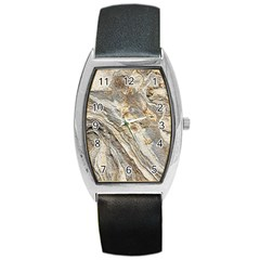 Background Structure Abstract Grain Marble Texture Barrel Style Metal Watch