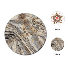 Background Structure Abstract Grain Marble Texture Playing Cards (round)