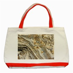 Background Structure Abstract Grain Marble Texture Classic Tote Bag (red)