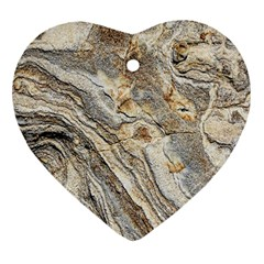 Background Structure Abstract Grain Marble Texture Heart Ornament (two Sides)