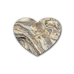 Background Structure Abstract Grain Marble Texture Heart Coaster (4 Pack)