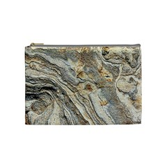 Background Structure Abstract Grain Marble Texture Cosmetic Bag (medium)