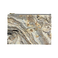 Background Structure Abstract Grain Marble Texture Cosmetic Bag (large)
