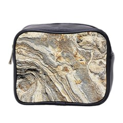 Background Structure Abstract Grain Marble Texture Mini Toiletries Bag 2 Side