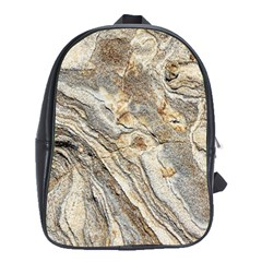 Background Structure Abstract Grain Marble Texture School Bag (xl)