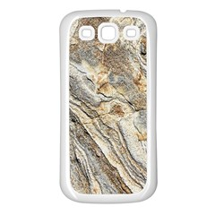 Background Structure Abstract Grain Marble Texture Samsung Galaxy S3 Back Case (white)