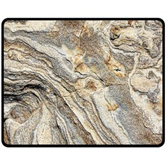 Background Structure Abstract Grain Marble Texture Double Sided Fleece Blanket (medium)