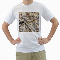 Background Structure Abstract Grain Marble Texture Men s T Shirt (white)