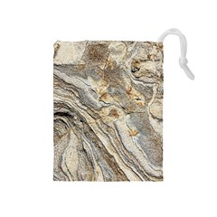 Background Structure Abstract Grain Marble Texture Drawstring Pouches (medium)