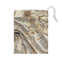 Background Structure Abstract Grain Marble Texture Drawstring Pouches (large)