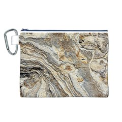 Background Structure Abstract Grain Marble Texture Canvas Cosmetic Bag (l)