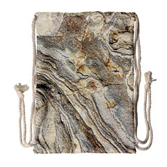 Background Structure Abstract Grain Marble Texture Drawstring Bag (large)