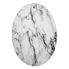 Marble Granite Pattern And Texture Ornament (oval)